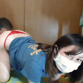 【ライブチャット】巨乳素人が彼氏に手マン・クンニされて体をビクビクさせてリアルに感じまくり!