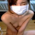 【ライブチャット】篠田麻里子似のスレンダーな貧乳素人が剛毛オマンコちらつかせてアナルもぽろり