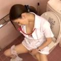【オナニー盗撮】ナースたちが仕事のストレス発散の為にこっそりトイレでオナニーしているって噂は本当だった!