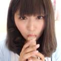 ライブチャットで超美少女が恥ずかしがりながらもメチャエロい舌使いでディルドを擬似フェラ!!