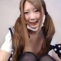 【ライブチャット動画】制服JKコスのロリ顔つるぺた美少女が「イッちゃう!イッちゃう!」って白い汁を垂らしながら絶叫オナニー